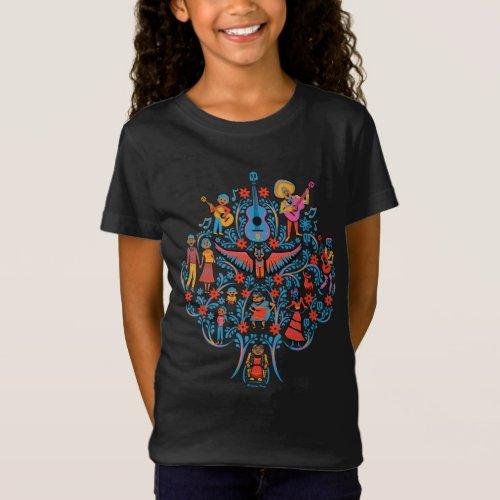 Disney Pixar Coco  Colorful Character Tree T_Shirt