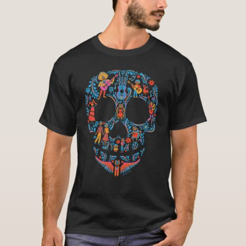 Disney Pixar Coco  Colorful Sugar Skull T_Shirt