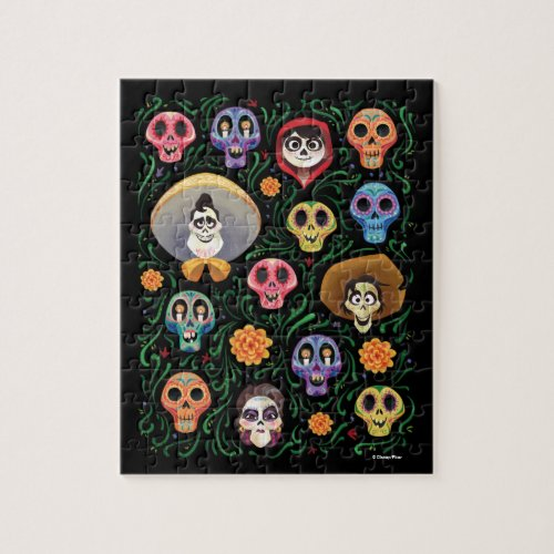 Disney Pixar Coco  Land of the Dead _ Sugar Skull Jigsaw Puzzle