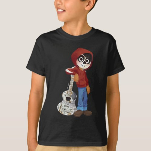 Disney Pixar Coco  Miguel  Standing with Guitar T_Shirt