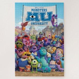 Disney Pixar Monsters University Movie Poster Jigsaw Puzzle