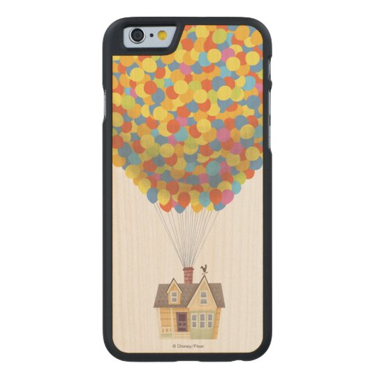 online store a2b6a da6fe Disney Pixar UP   Balloon House Pastel Carved Wood iPhone Case