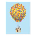 Disney Pixar Up   Balloon House Pastel Postcard at Zazzle