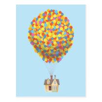 Disney Pixar UP | Balloon House Pastel Postcard
