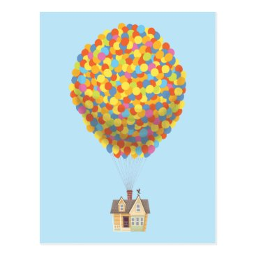 Professional Business Disney Pixar UP | Balloon House Pastel Postcard