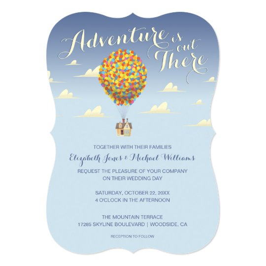 Disney Pixar Up Wedding Adventure Is Out There C Invitation