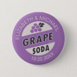 """Disney Pixar Up Wedding   Grape Soda Button<br><div class=""""desc"""">The Ellie badge. A storm of memories from the beloved cartoon classic Up come flooding back with this awesome Pixar design. A grape soda themed purple badge that is sure to add some funny Disney charm to your wedding day. Just like Carl and Russell, you too can show your affection...</div>"""