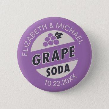 Disney Themed Disney Pixar Up Wedding   Grape Soda Button