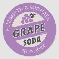 Disney Pixar Up Wedding | Grape Soda Sticker