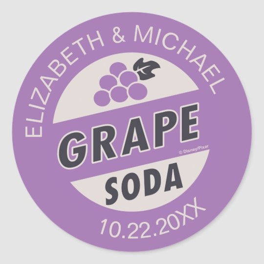 Disney Pixar Up Wedding Grape Soda Sticker