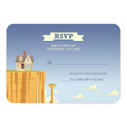 Disney Pixar Up Wedding | RSVP Card