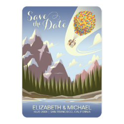 Disney Pixar Up Wedding | Save the Date Card