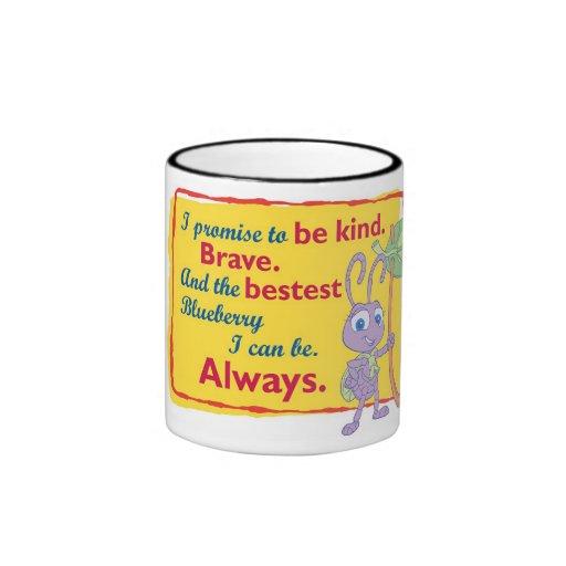 Disney princesa Dot Motto de la vida de un insecto Taza De Dos Colores