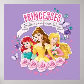 Disney Princess | Ariel, Belle and Aurora Poster