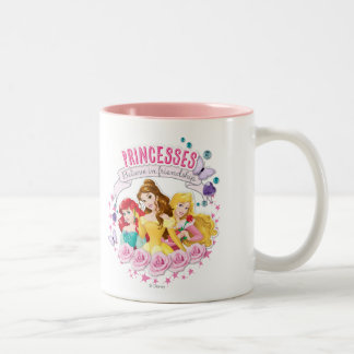 Disney Princess | Ariel, Belle and Aurora Two-Tone Coffee Mug