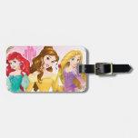 Disney Princess   Ariel, Belle and Rapunzel Luggage Tag