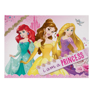 Disney Princess | Ariel, Belle and Rapunzel Poster