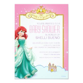 "Disney Princess Ariel It's a Girl Baby Shower 5"" X 7"" Invitation Card"