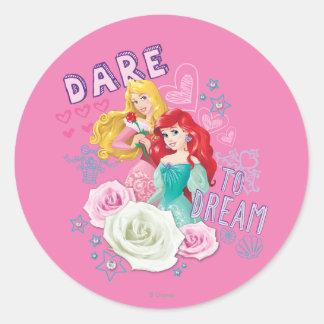 Disney Princess | Aurora and Ariel Classic Round Sticker