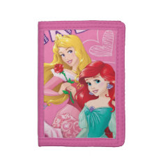 Disney Princess | Aurora And Ariel Tri-fold Wallet at Zazzle