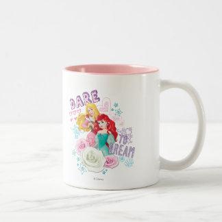 Disney Princess   Aurora and Ariel Two-Tone Coffee Mug
