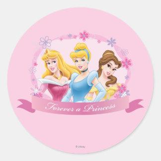 Disney Princess | Aurora, Cinderella and Belle Classic Round Sticker