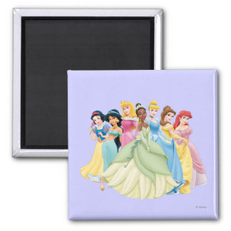 Disney Princess | Aurora, Tiana, Cinderella Center 2 Inch Square Magnet
