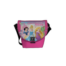 Disney Princess | Believe In Friendship Messenger Bag at Zazzle