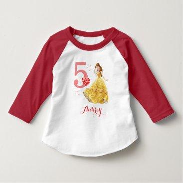 Disney Themed Disney Princess   Belle Birthday T-Shirt