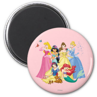 Disney Princess   Birds and Animals 2 Inch Round Magnet