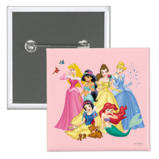 Disney Princess | Birds and Animals Button