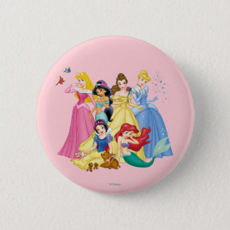 Disney Princess | Birds and Animals Pinback Button