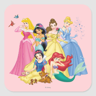 Disney Princess | Birds and Animals Square Sticker