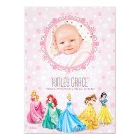 Disney princess photo baby shower invitations baby shower party disney princess photo baby shower invitations disney princess birth announcement invites filmwisefo