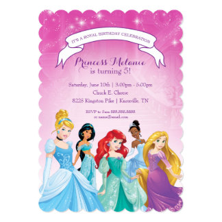 disney princess invitations & announcements | zazzle, Birthday invitations