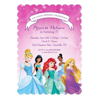 Disney Princess Happy Birthday Card Zazzlecom