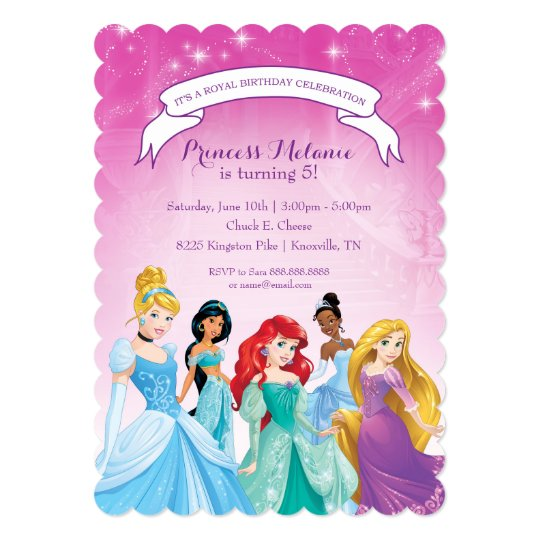 Disney Princess Birthday Invitation Zazzle Com