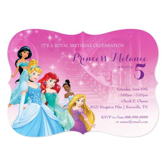 Disney Princess Birthday Invitation Zazzlecom