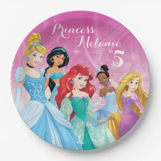 Disney Princess | Birthday Paper Plate