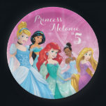 "Disney Princess | Birthday Paper Plate<br><div class=""desc"">Customize this Disney Princess Birthday plate with your child&#39;s name and age.</div>"