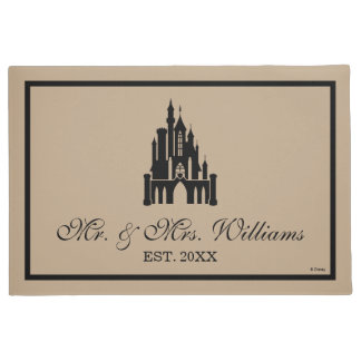 Disney Princess Castle |  Family Name and Date Doormat