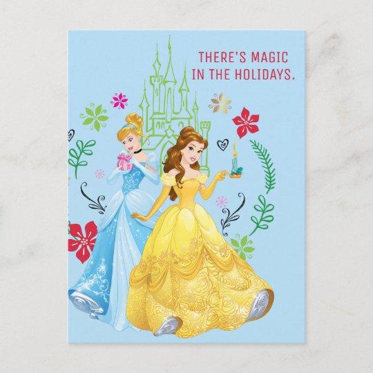 Disney princess christmas princesses holiday postcard zazzle disney princess christmas princesses holiday postcard m4hsunfo
