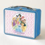 """Disney Princess   Cinderella Featured Center Metal Lunch Box<br><div class=""""desc"""">Disney Princesses</div>"""
