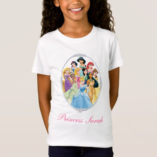 Disney Princess  Cinderella Featured Center T_Shirt