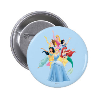 Disney Princess | Hands Up in Air Pinback Button