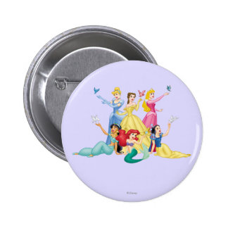 Disney Princess | Hands Up with Birds Button