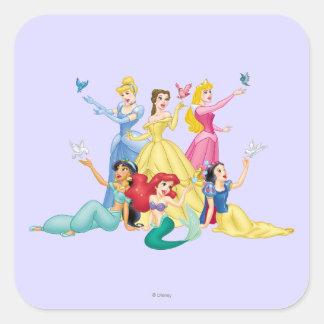 Disney Princess | Hands Up with Birds Square Sticker