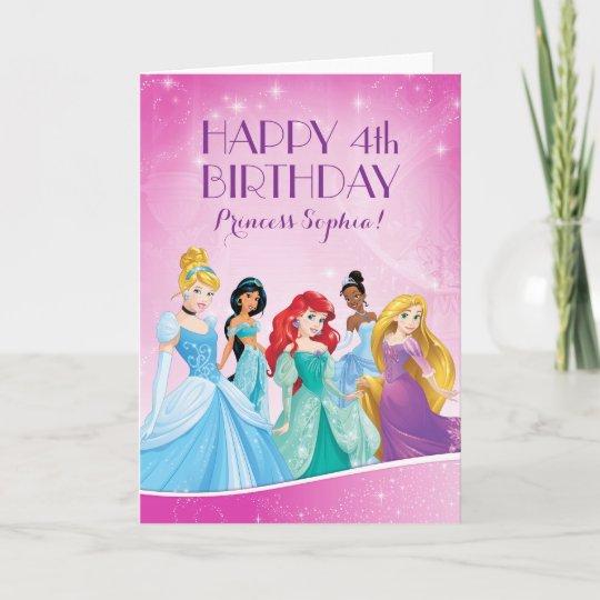 Disney Princess Happy Birthday Card Zazzle