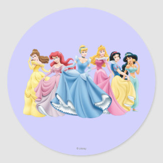 Disney Princess | Holding Dresses Out Classic Round Sticker