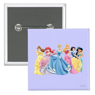 Disney Princess | Holding Dresses Out Pinback Button